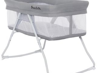 Dream On Me Meghan Portable Bassinet in Grey