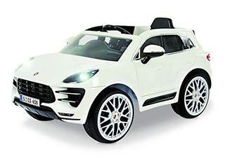 Rollplay W416AC 6V Porsche Macan Kids Ride On Car   For Boys   Girls Ages 3   Up   Battery Powered Ride On Toy   White  24 41  x 23 23