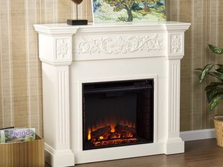 SEI Calvert Gel Fuel Fireplace  Ivory