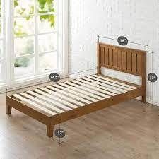 Zinus Alexis 12 Inch Deluxe Wood Platform Bed   No Box Spring Needed   Wood S