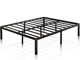 Zinus 16 Inch Metal Platform Bed Frame with Steel Slat Support   Mattress Foundation  King