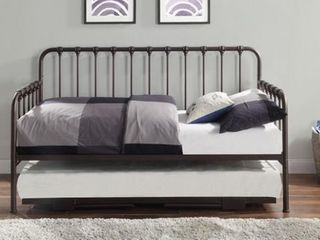 Topline Home Furnishings Bronze Daybed With Adjustable Trundle Bronze Twin