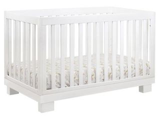 Babyletto Modo 3 in 1 Convertible Crib with Toddler Rail   White