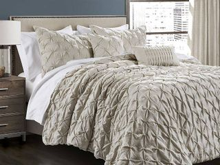Ravello Pintuck 5 Piece King Comforter Set Bedding