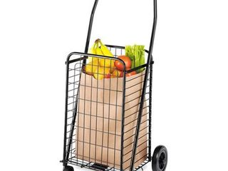 Whitmor Rolling Steel Utility Cart  Black