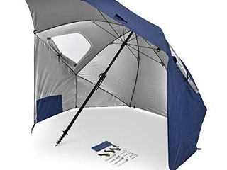 Sport Brella Premiere Xl UPF 50  Umbrella Shelter for Sun and Rain Protection  9 Foot  Blue