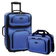 Rio Expandable Rolling Carry on luggage  Blue