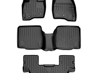 MAXlINER Floor Mats 3 Row liner Set Black for 2011 2014 Ford Explorer Without 2nd Row Center Console