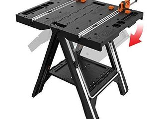 WORX Pegasus Multi Function Work Table and Sawhorse with Quick Clamps and Holding Pegs a WX051
