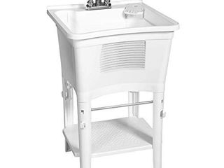 Zenna Home Ergo Tub Sanitation Station  White