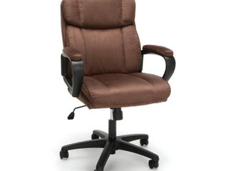 OFM Essentials Collection Plush Mid Back Microfiber Office Chair  in Brown  ESS 3082 BRN