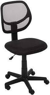 Amazonbasics low back Computer Task desk Chair With Swivel Casters   Black