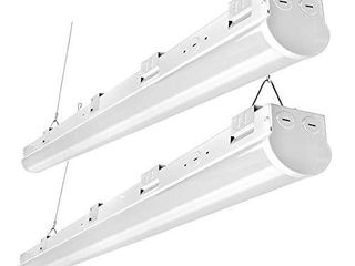 FaithSail 8FT lED Shop lights  110W linkable lED Strip light  13800lM  1 10V Dimmable  5000K  Commercial Grade Big Size 8 Foot linear Ceiling lighting Fixtures for Warehouse  Garage  Workshop  2 Pack