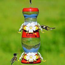 Perky Pet Double Decker Red Plastic Nectar Hummingbird Feeder