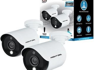 Night Owl   Indoor Outdoor 1080p Wired Spotlight Camera  2 Pack    White