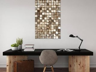 Textured Handed Painted Rugged Wooden Blocks Wall Art