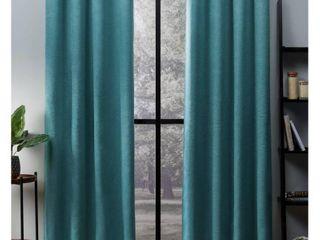 Oxford Sateen Woven Blackout Grommet Top Curtain Panel Pair