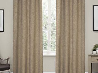 Strick   Bolton laurette linen Woven Blackout Grommet Top Curtain Panel Pair