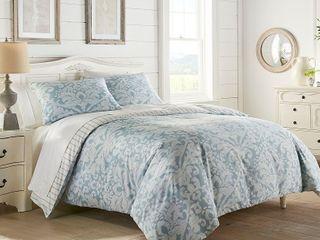 Stone Cottage Camden Blue Cotton Duvet Cover Set   Retail 129 97