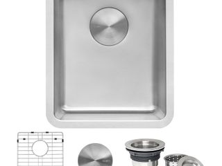 Stainless Steel Kitchen Sink width 12in Front to back 17 3 4 Bowl Depth 7in