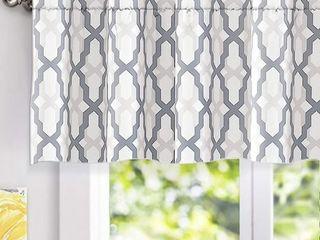 DriftAway Mason Geometric Trellis Pattern Window Curtain Valance Set of 3