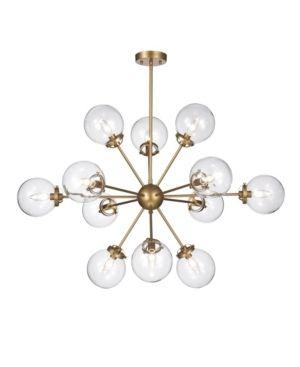 12 light Gold Sputnik Chandelier