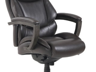 Thomasville Traditional Big and Tall Executive Office Chair in Brown
