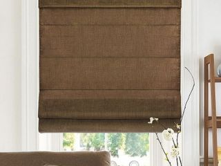 Four 34in x 64in Belgian Chocolate Privacy  amp  light Filtering Chicology Cordless Roman Shades