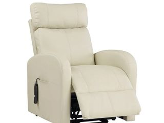 Recliner with Power lift Chair Biege leather Acme Furniture