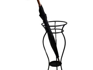 Black Iron Umbrella Stand