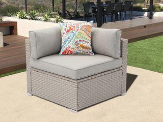 Cosiest Wicker Corner Seat in Gray