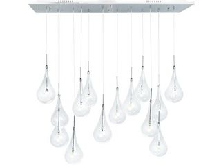 Modern 14 light Glass Drops Chandelier