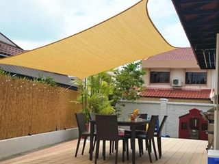 Sun Shade Sail  Sand Color  Size 10ft x 13ft