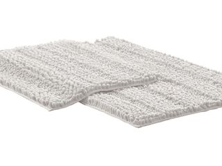 Modern Threads Chenille Noodle Bath Mat with Non Slip Backing