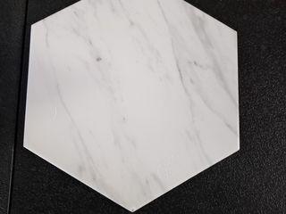 White With little Gray Specks Polygon Single Tile