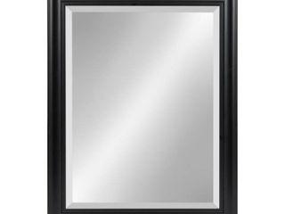 salary framed beveled wall mirror 22x28   Black