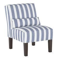skyline furniture armless chair in brush cabana icy blue