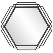 Howard elliot raven iron frame wall mirror 40x42