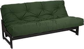 8 inch gel boxed hunter green duck futon