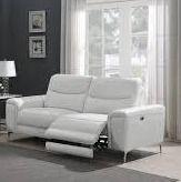 largo Upholstered Power Sofa White
