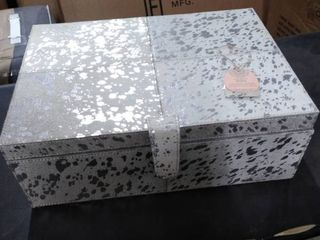 handcrafted india genuine leather boxes set of 2