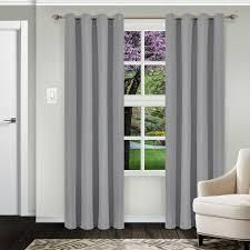 Impressions Reagan Solid Blackout Curtain Set with Grommet Header grey