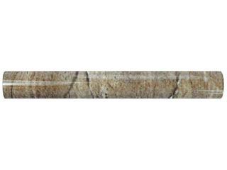 Merola Tile Ferraras Base 1 in  x 8 in  Ceramic Cigarro Wall Trim Tile  Beige High Sheen 2 boxes