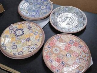 plastic plates 6 pc multi color