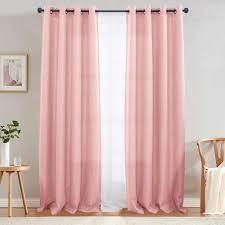 grommet curtains blackout pink 2 pkgs