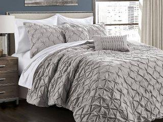 Ravello Pintuck Comforter 5 Piece Set king