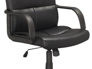 Corliving   5 Pointed Star Foam and leatherette Office Chair   Black