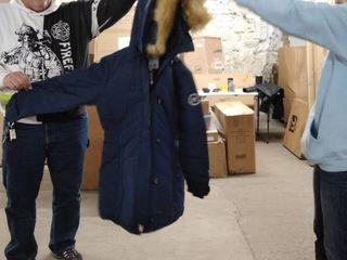 orolay duck down jacket 2x women navy