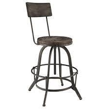 Carbon loft Richard Wood and Metal Bar Stool  Retail 131 99 black