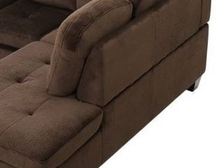 canterbury fabric sofa piece right end only Chocolate